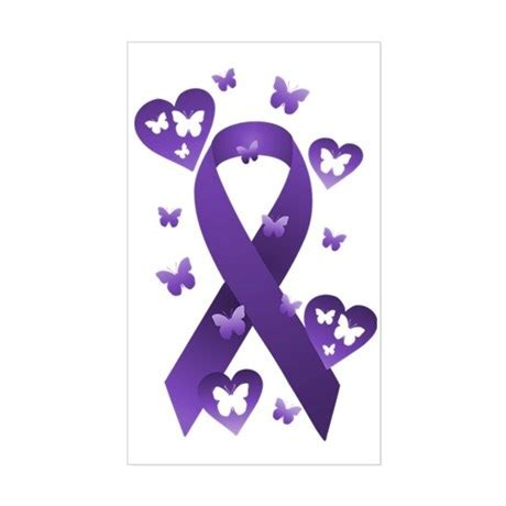 domestic violence ribbon color purple awareness ribbon decal by alondrascreations