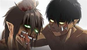 Levi Titan Form beat up Eren Titan Form by ...