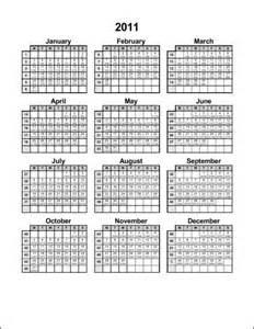 Julian Calendar with Week Numbers