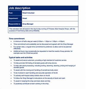 Customer service job description templates 12 free for Samples of job descriptions templates