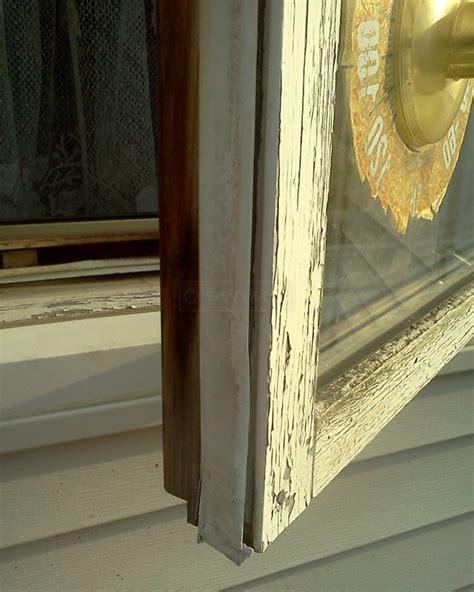 white vinyl weather stripping  wood casements windows
