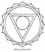 Chakra Throat Symbols Coloring Mandala Symbol Google sketch template