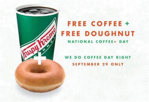 Learn about coupons and special deals. Krispy Kreme Giving Out Free Coffee and Donuts on September 29, 2015 | Brand Eating