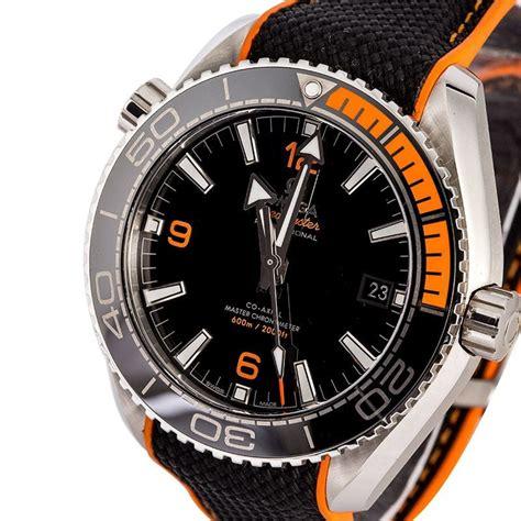 omega seamaster planet black orange