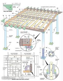 Floor Joist Spacing Requirements by How To Build A Pergola The Family Handyman