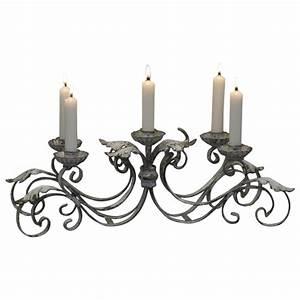 Chandelier De Table : chandelier de table pour 5 bougies couleur cr me antique par chic antique ~ Melissatoandfro.com Idées de Décoration