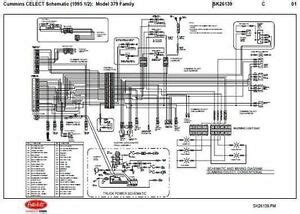 Back Up Alarm Wiring Diagram Freightliner M2 by 1995 5 Peterbilt 379 357 375 377 378 Cummins N14 Celect