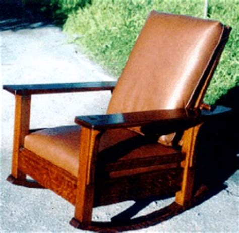 stickley morris rocking chair voorhees craftsman mission oak furniture paddle arm