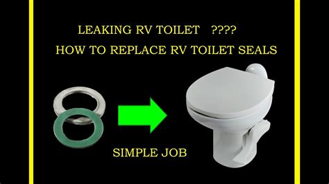 How To Install A Water Closet by How To Fix Leaking Thetford Rv Toilet Gasket Seal Flush