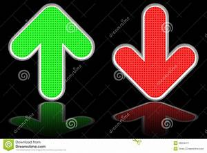 Green Up And Red Down Arrows On Stock Illustration ...