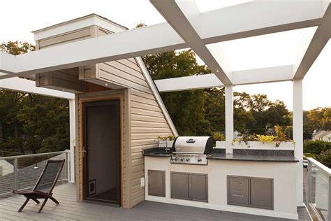award winning rooftop deck  fireplace tw ellis