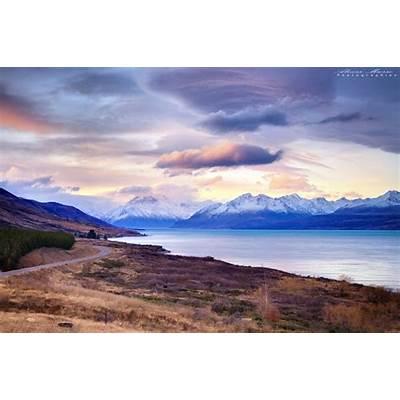 Lake Pukaki - Mt Cook Road New Zealand