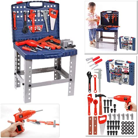 Children S Tool Bench Playset by Children 69pc Diy Tool Drill Play Work Bench Boys