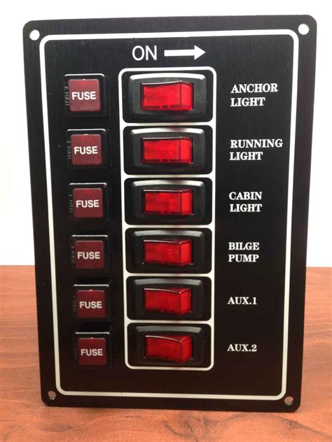 Boat Switch Panel 6 Gang by Marine Boat Aluminum Plate Vertical Switch Panel 6 Gang Ul