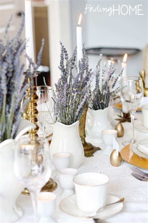 lavender table l vintage brass and lavender easter tablescape finding