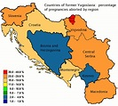 Countries of former Yugoslavia: percentage of pregnancies ...
