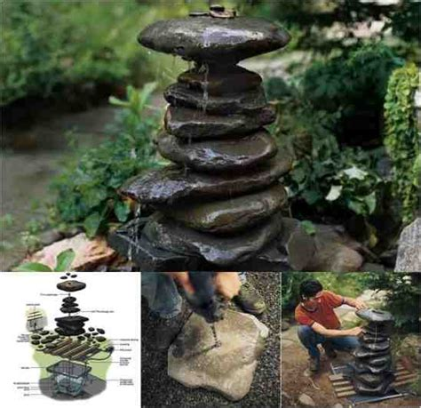 diy water fountains outdoor beautiful diy zen water fountain do it yourself fun ideas