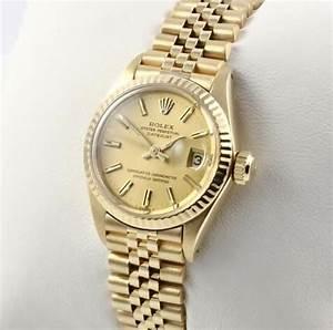 ROLEX LADY DATEJUST 18 KARAT 750 GELB GOLD DAMENUHR EBay