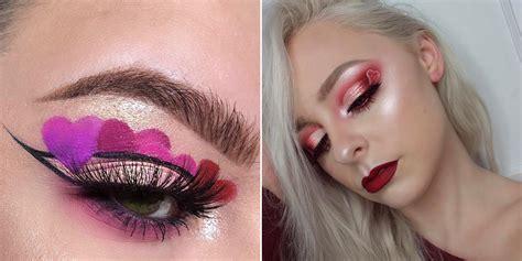 ways  wear heart makeup  valentines day allure