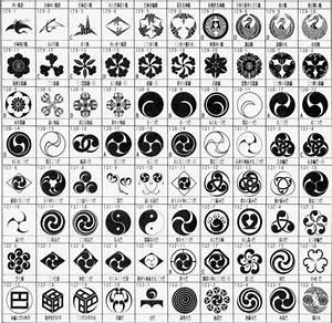 Kamon (crest) a Japanese heraldic symbol. | Traditional ...