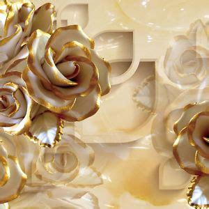 golden rose modern wallpaper embossed mural rolls art