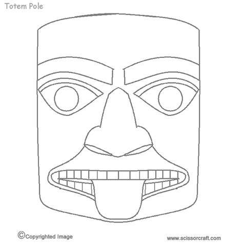 Totem Pole Bear Template by 7 Best Images Of Printable Totem Pole Faces Totem Poles