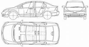 2006 Honda Civic Sedan V3 Blueprints Free