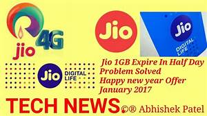 Solved Reliance Jio Happy New Year Offer Problem || 1GB ...