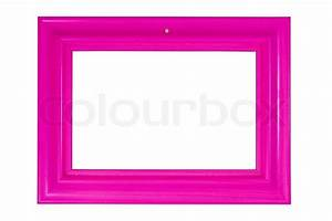 Bright pink wooden photo frame (with empty space for your ...