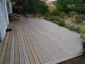 Pose Terrasse Bois Sur Gravier : terrasse bois moliets terrasse bois landes 40 ~ Premium-room.com Idées de Décoration