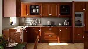 Cuisine équipée Bois : cuisine en bois 3d library architecture interieurs ~ Premium-room.com Idées de Décoration
