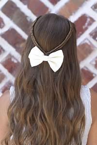 Infinity Braid Tieback Back to School Hairstyles Cute Girls Hairstyles