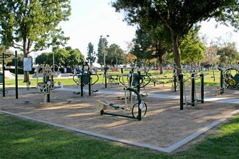 outdoor fitness equipment at garden grove park city of