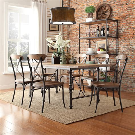 oxford creek allison rustic  piece dining set home