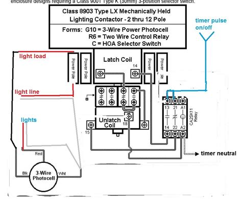 240 Vac Contactor Wiring by 240 Volt Photocell Wiring Diagram