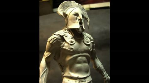 Clay Sculpture-spartan King Statue (part 1)