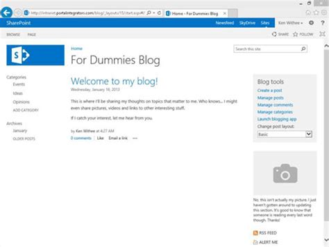 How To Create A Blog Site In Sharepoint