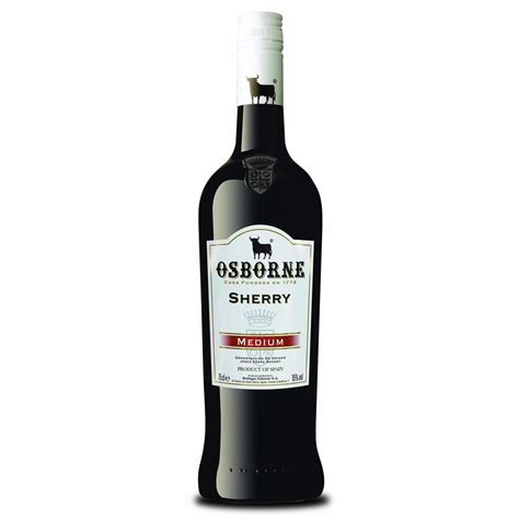 Osborne Medium Dry Sherry 75cl : Buy Cheap Price Online UK