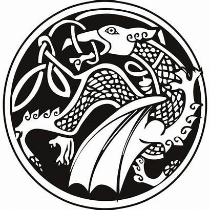 Celtic Dragon Decal Tribal Wall Circle Sticker