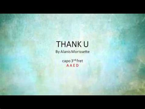 Thank You By Alanis Morissette - Easy chords and lyrics ...