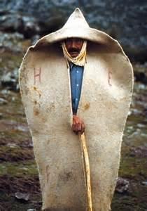 Turkish Felt Shepherd Wearing Cloak