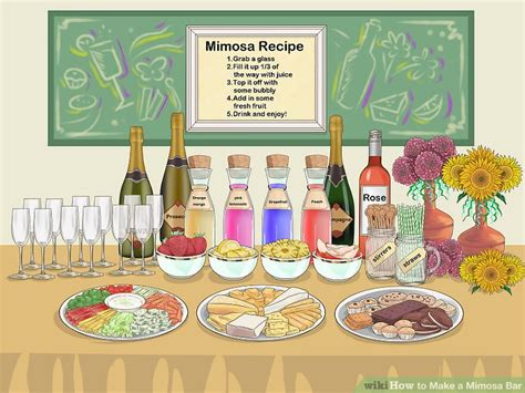 How To Make A Bar by How To Make A Mimosa Bar With Pictures Wikihow