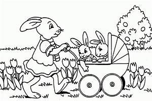 Coloriage De Paque : coloriage lapin paques a imprimer 1001 animaux ~ Melissatoandfro.com Idées de Décoration