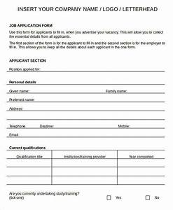 blank job application form template templates resume With blank resume form for job application