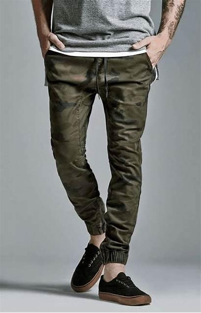Skinny Jogger Pants Zip Camo Bullhead Denim