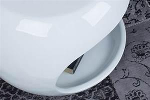 Moderner Beistelltisch SPIN Wei Couchtisch Tisch