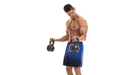 kettlebell curl biceps exercises triceps workout arm muscle workouts challenge fitness superforma