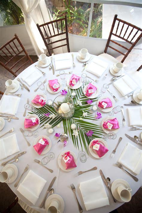 idee centre de table tropical mariage inspiration