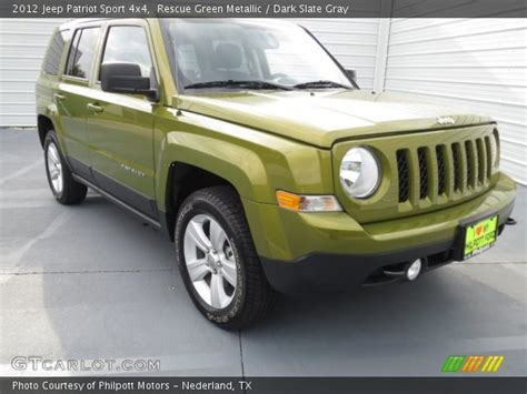 dark green jeep patriot rescue green metallic 2012 jeep patriot sport 4x4 dark