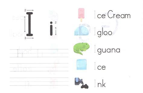 alphabet capital and small letter i i worksheet for